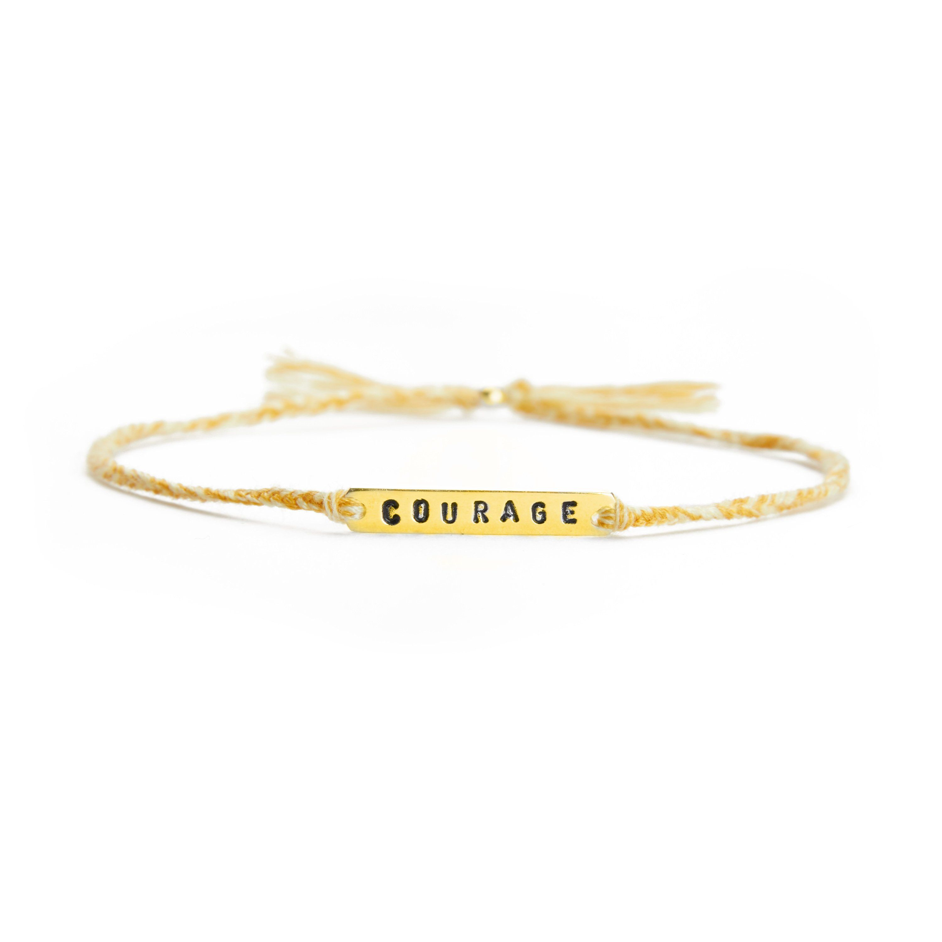 Courage yellow mix gold handmade bracelet from Santai.no