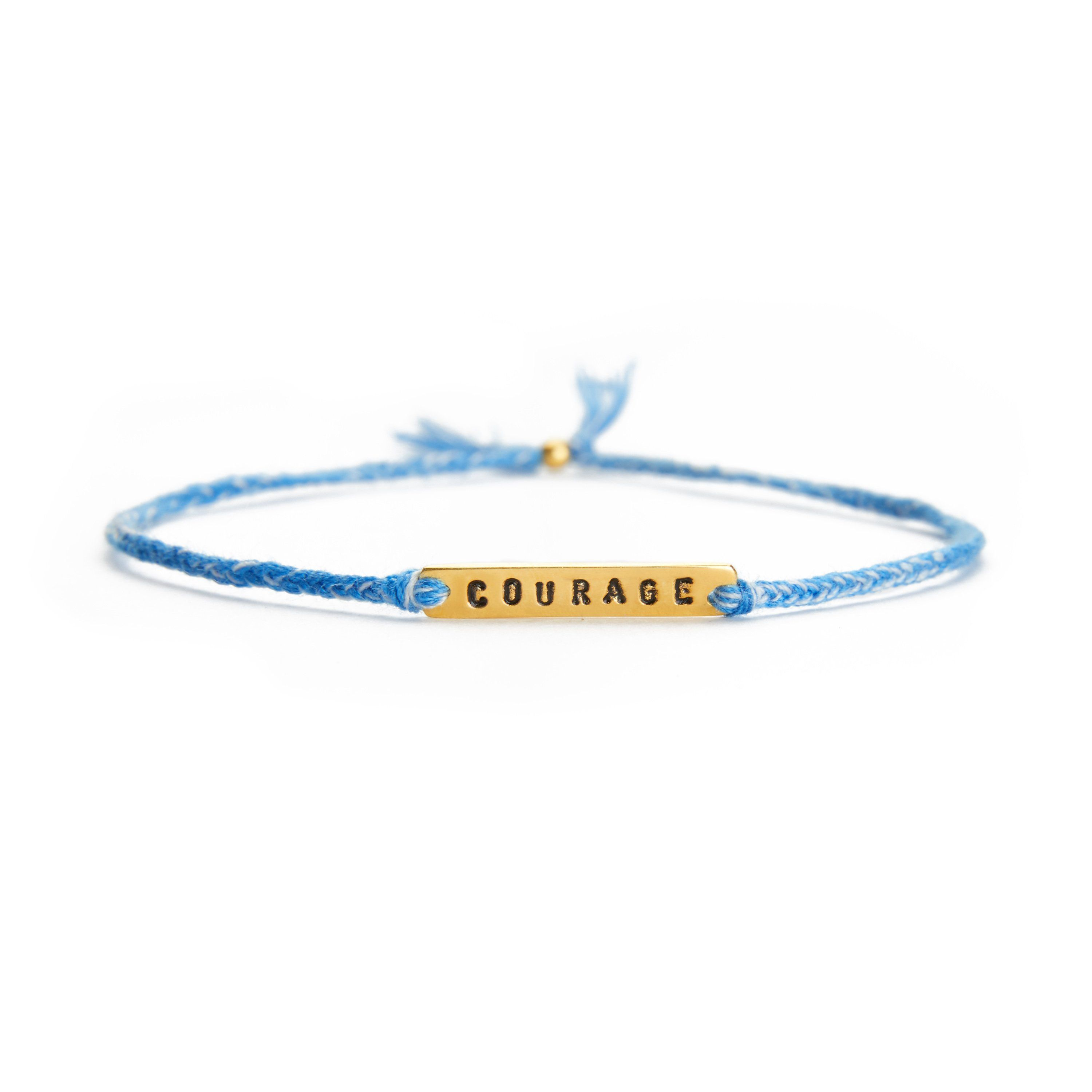 Courage blue mix gold handmade bracelet from Santai.no