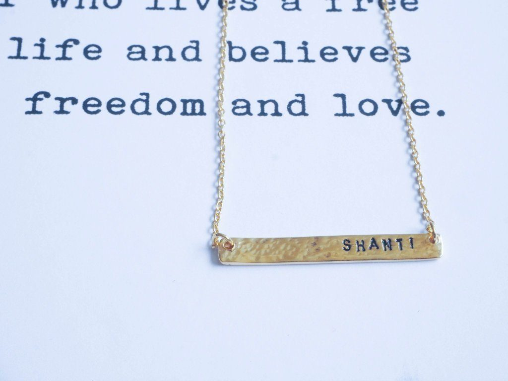Shanti necklace silver and gold handmade from Santai.no