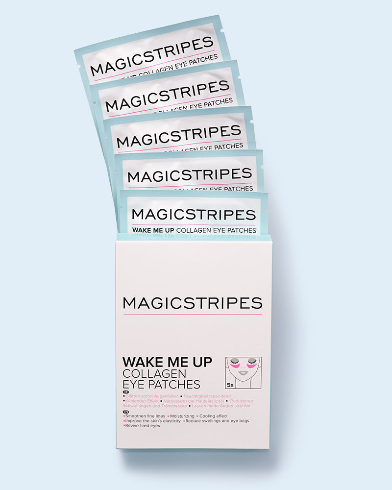WAKE ME UP COLLAGEN EYE PATCHES - 5 PAIRS - MAGICSTRIPES