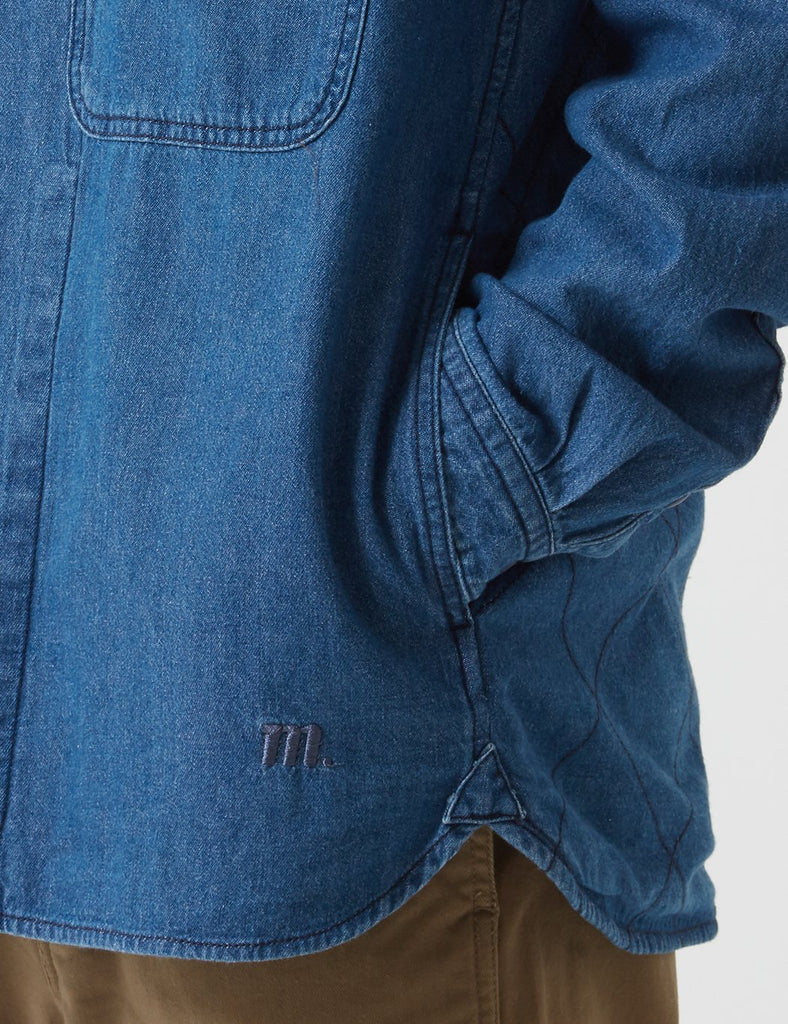 Manastash O.D Work Layer Jacket - Indigo Denim Blue