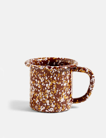 Hay Enamel Mug. Sprinkle - Brown