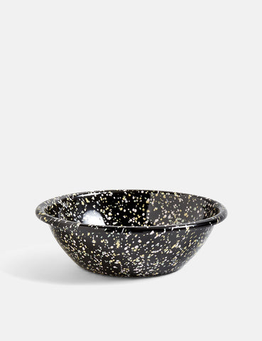 Hay Enamel Serving Bowl Sprinkle - Black