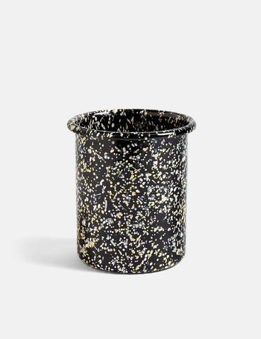 Hay Enamel Utensil Holder. Sprinkle - Black