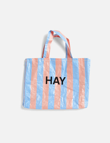 Hay Candy Stripe Shopper (Medium) - Blue and Orange