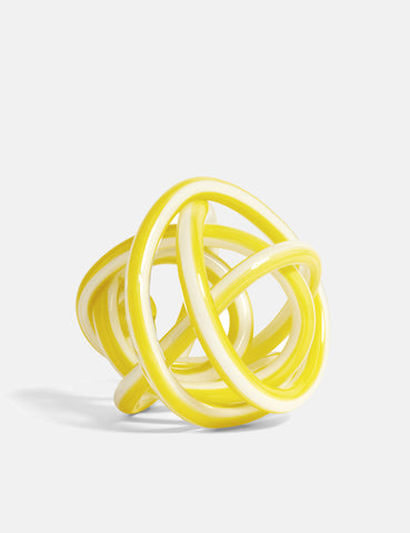Hay Knot Glass (Medium) - Yellow