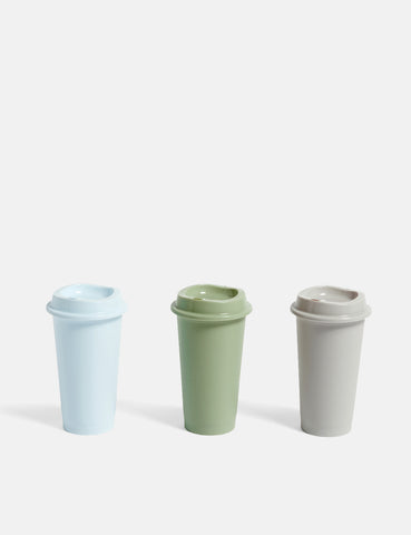 Hay Paquet Coffee Cups Set of 3 - Light Blue/Grey/Green