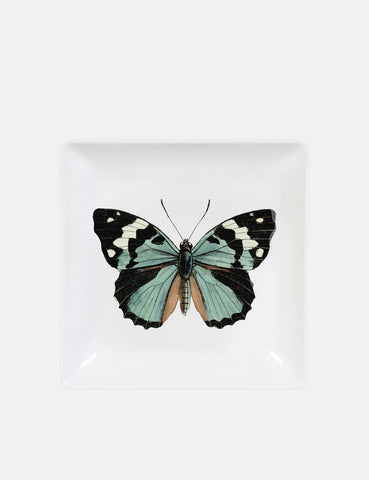 Magpie Butterfly Trinket Tray - White