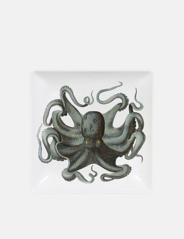 Magpie Octopus Trinket Tray - White