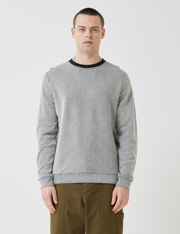 Oliver Spencer Robin Crew Sweatshirt - Turrell Oatmeal Grey