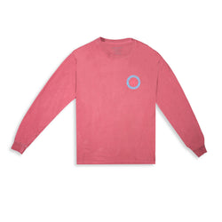 Wave Goodbye L/S Tee / Brick - Clear Weather