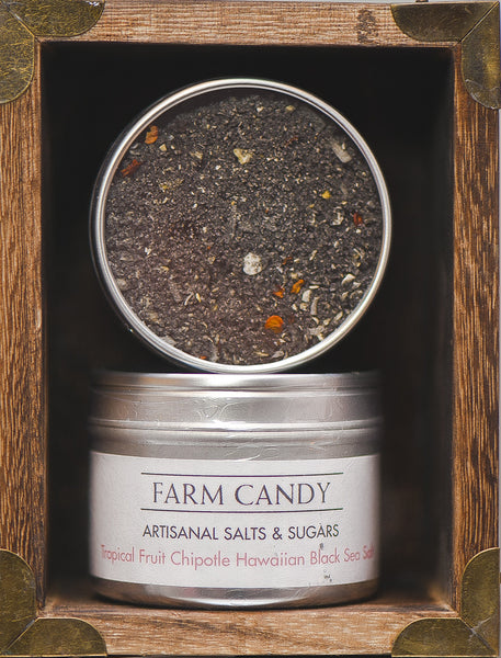 FC Salts Sugars & Spices-Tropical Fruit Chipotle Pepper Black Hawaiian Sea Salt