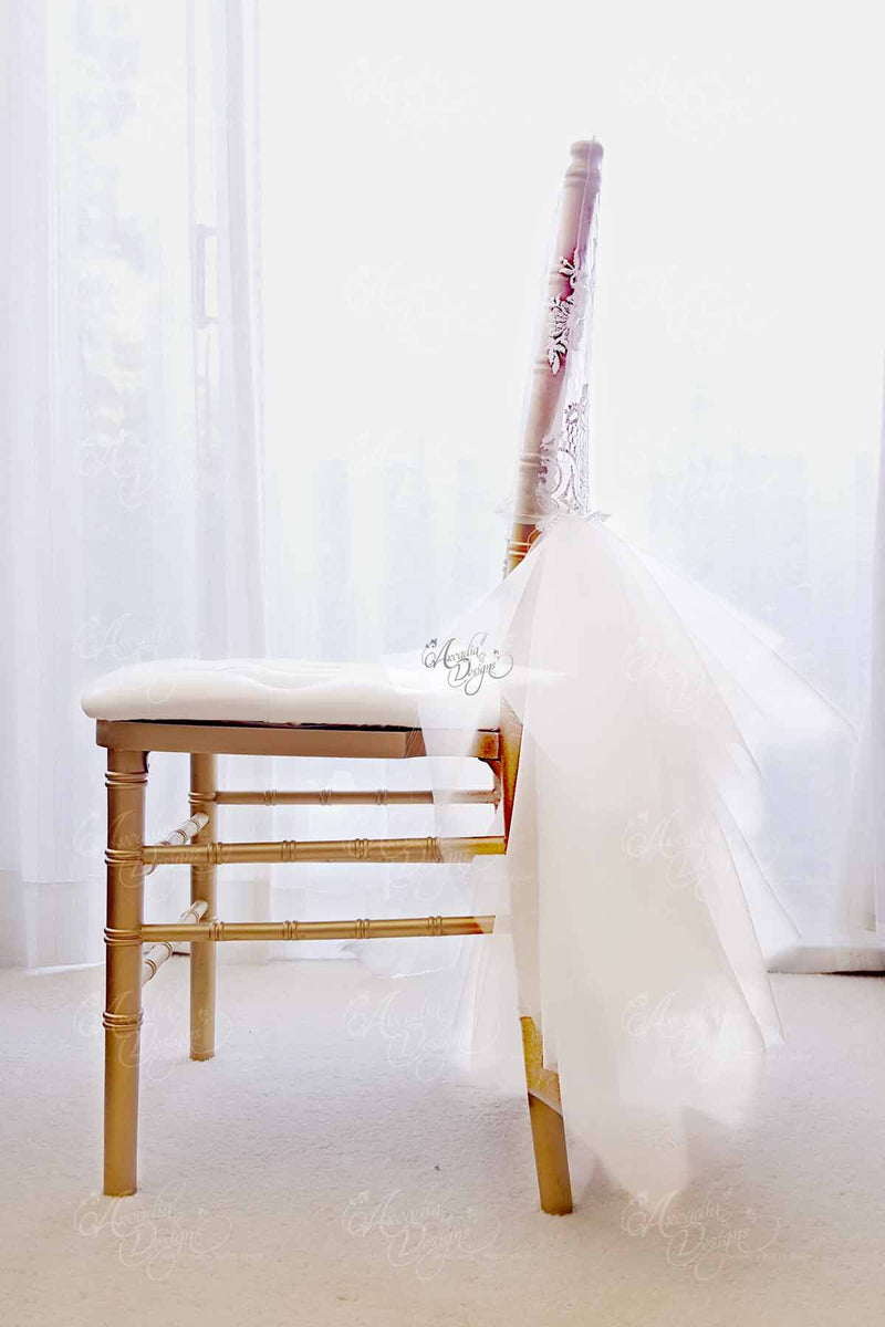 Arcadia Designs Wedding decoration Bridal Shower Chiavari Ballerina Lace Tutu Tulle Chair Cover Slipcover