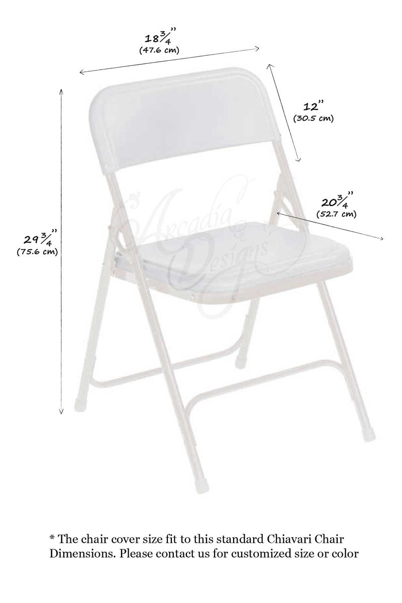 Arcadia Designs Natural White Rose Folding Chair Slipcover White Blush Pink