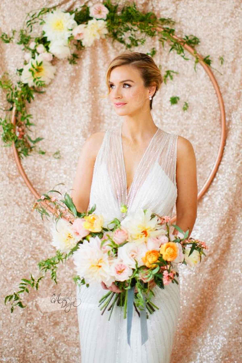 Arcadia Designs Rose Gold Sequin Backdrop