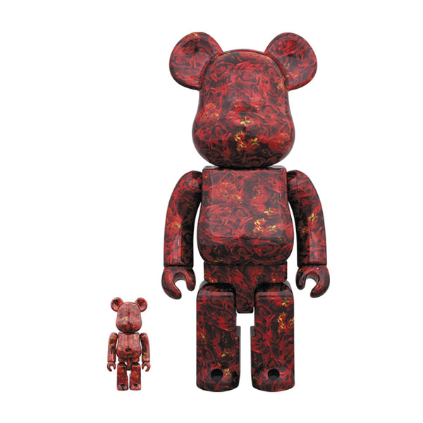 Mika Ninagawa Leather Rose 100% & 400% BEARBRICK