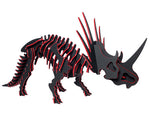 "[GIANT] 3D Dinosaur Puzzle - Styracosaurus (68"" L x 36"" H) - 1/2"" Recycled HDPE - 8 Two-Tone Color Combinations"