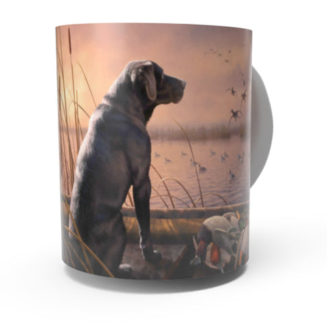 BLACK LABRADOR COFFEE MUGS-Art by Greg Alexander