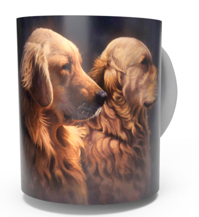 GOLDEN RETRIEVER COFFEE MUG-Art by Greg Alexander
