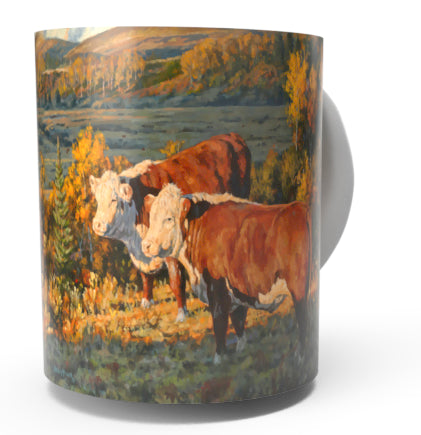 HEREFORD COW COFFEE MUG-Art by Bruce Miller