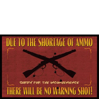 ammo shortage welcome mat