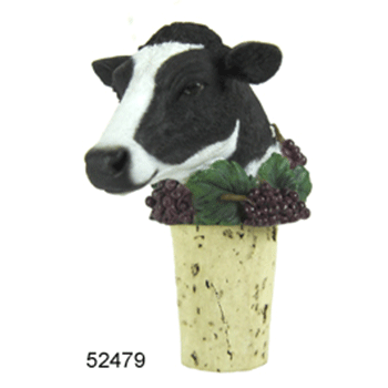 cow wine stopper