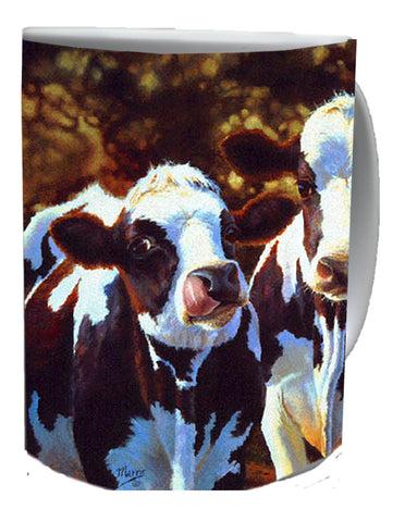 COW COFFEE MUGS-Art by Bonnie Marris