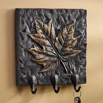 Maple Leaf Plaque with Hooks