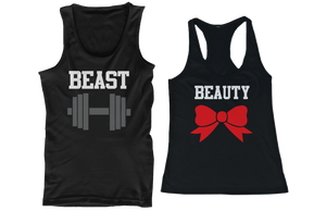 workout couple shirts for fitness and gym