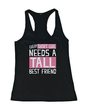 Cute Tall and Short Best Friend Tank Tops - Matching BFF Tanks - 365INLOVE