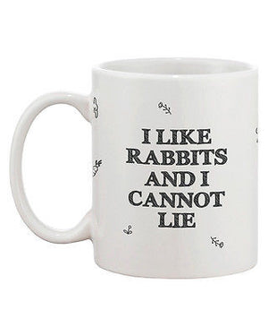Funny and Cute Bunny Ceramic Coffee Mug - I Like Rabbits and I Cannot Lie - 365INLOVE
