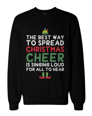 Best Way to Spread Christmas Cheer Graphic Sweatshirts - Unisex Black Sweatshirt - 365INLOVE