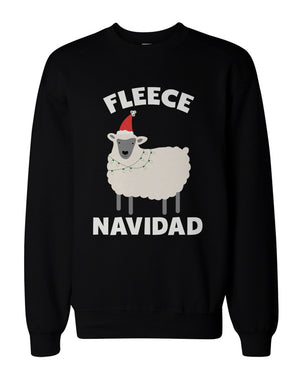 Fleece Navidad Funny Christmas Graphic Sweatshirts - Unisex Black Sweatshirt - 365INLOVE
