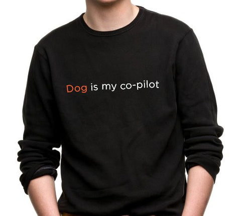 Dog Is My Co-Pilot Long Sleeve T-Shirt