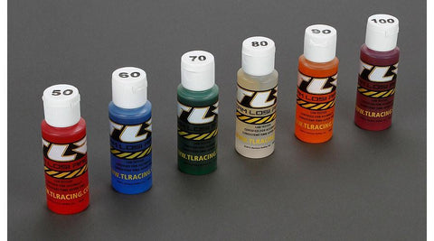 Shock Oil 6Pk, 50, 60, 70, 80, 90, 100 2oz  by Team Losi Racing