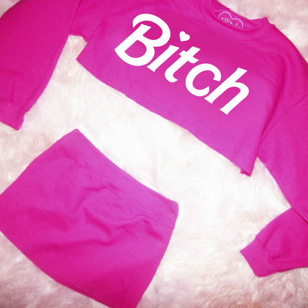 BARBIE BITCH MINISKIRT SWEATSUIT
