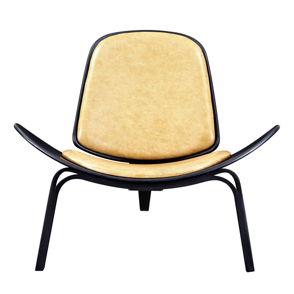 Aged Maple Shell Chair - Black