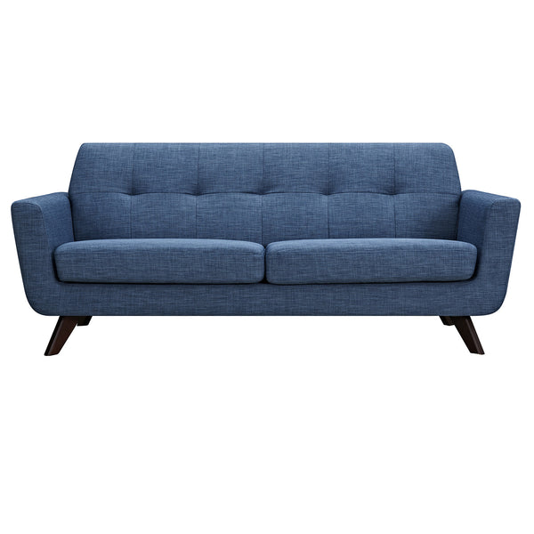 Stone Blue Dania Sofa - Walnut