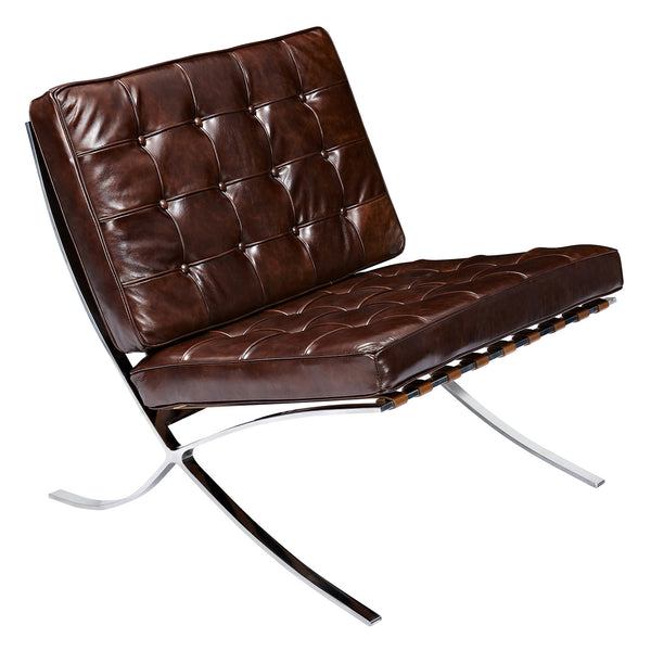 Aged Cognac Mies Chair