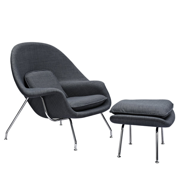 Charcoal Gray Saro Chair
