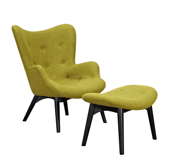 Avocado Green Aiden Chair-Black