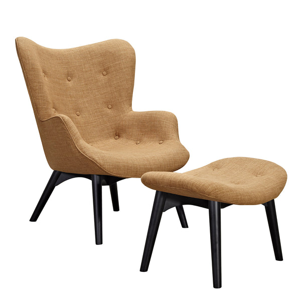 Camel Brown Aiden Chair-Black