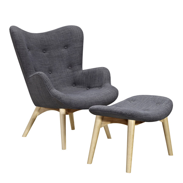 Charcoal Gray Aiden Chair-Natural
