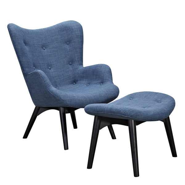Dodger Blue Aiden Chair-Black