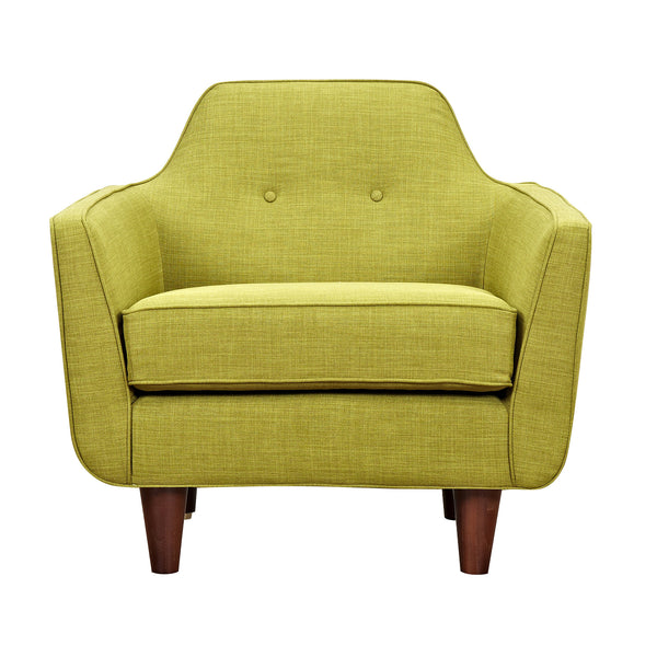Avocado Green Agna Armchair - Walnut