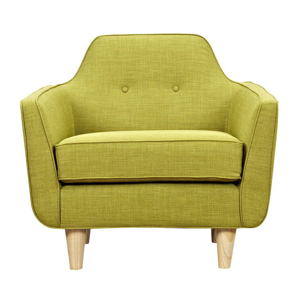 Avocado Green Agna Armchair- Natural