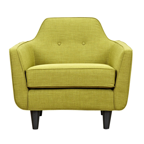 Avocado Green Agna Armchair - Black