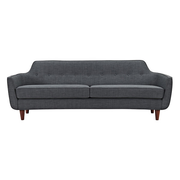 Charcoal Gray Agna Sofa - Walnut