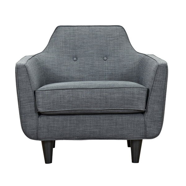 Charcoal Gray Agna Armchair - Black