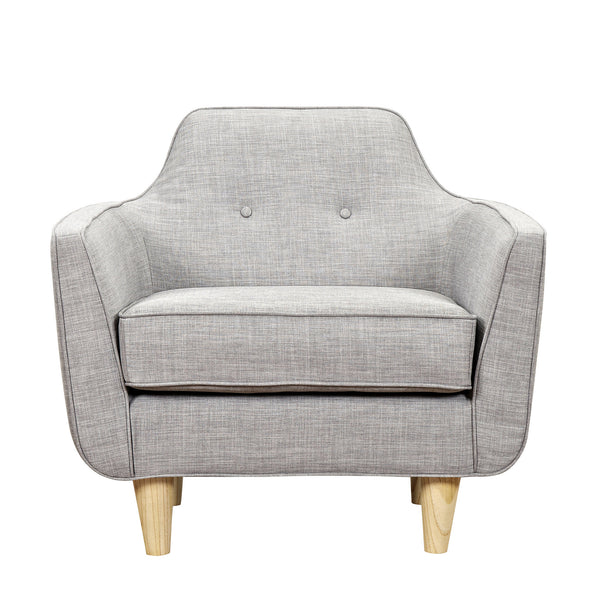 Aluminium Gray Agna Armchair - Natural